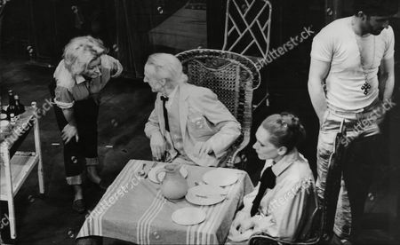 Sian Phillips Mark Eden Vanda Godsell And Donald Eccles In This Stage Production Of Night Of The Iguana