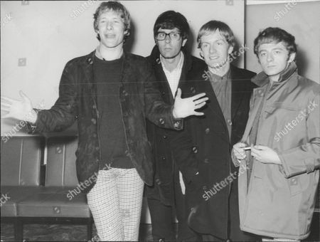 Stock Picture of Manfred Mann L-r Paul Jones, Manfred Mann, Mike Vickers and Mike Hugg at London Airport