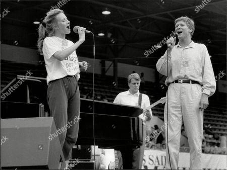 Actress Fiona Hendley And Husband Actor Paul Jones At The Palace Theatre He Was Singer In Pop Group Manfred Mann Seen On Stage At West Ham Stadium