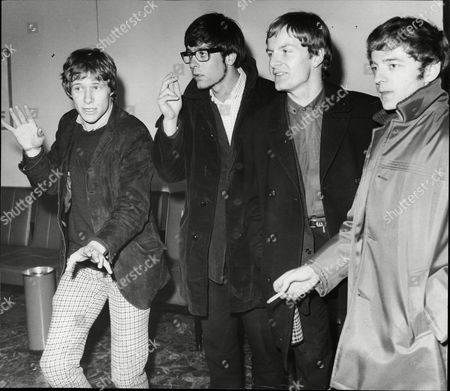 Editorial picture of Pop Group Manfred Mann Singers L-r Paul Jones Manfred Mann Mike D'abo And Mike Hugg At London Airport Manfred Mann Was A British Beat Rhythm And Blues And Pop Band (with A Strong Jazz Foundation) Of The 1960s Named After Their South African Keyboard