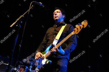 Bath United Kingdom - April 14: Bass Player For Hugh Cornwell Performing Live On Stage At Komedia On April 14 2011 In Bath