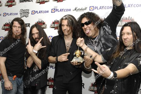 Stock Photo of Greg Christian Paul Bostaph Alex Skolnick Chuck Billy Eric Peterson