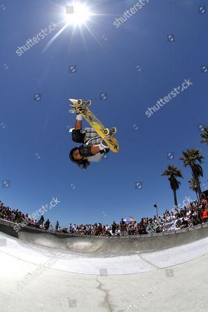 Stock Picture of Asher Bradshaw - Skater skateboarding