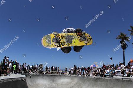 Stock Photo of Asher Bradshaw - Skater skateboarding