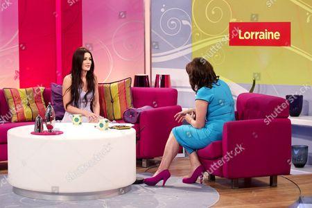 Olivia Landin with Lorraine Kelly