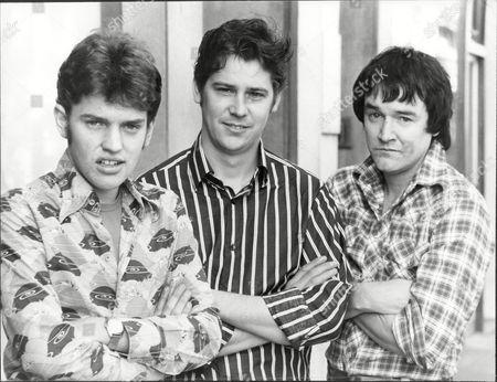 Front Left To Right Tim Whitehall Shakin Stevens Singer And Pj Proby Singer