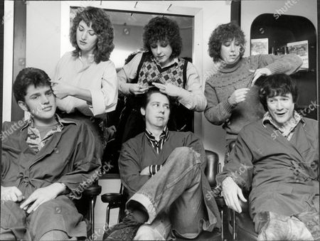 Editorial photo of Front Left To Right Tim Whitehall Shakin Stevens Singer And Pj Proby Singer