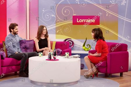 Harry Gilliam and Tali Lennox with Lorraine Kelly