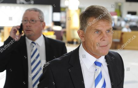 Stock Picture of Gillingham FC chairman Paul Scally and Former Gillingham FC manager Andy Hessenthaler