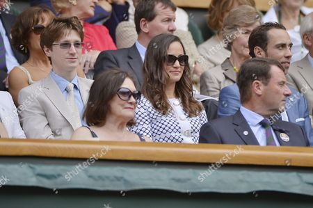 Pippa Middleton with Felicity Kendal's son Jake Rudman