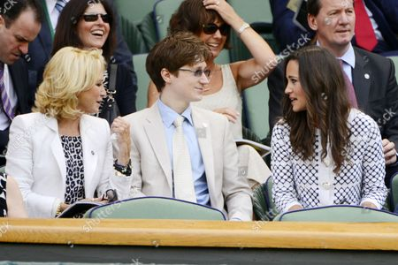 Felicity Kendal, son Jacob Kendal and Pippa Middleton