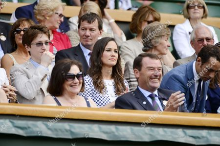 Stock Picture of Felicity Kendal's son Jake Rudman and Pippa Middleton