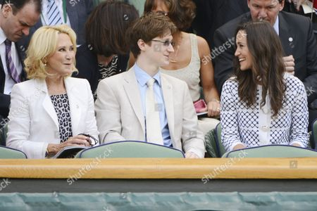 Stock Photo of Felicity Kendal, son, Jake Rudman, and Pippa Middleton