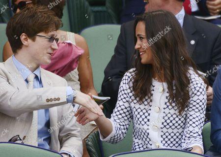 Stock Image of Felicity Kendal's son Jake Rudman meeting Pippa Middleton