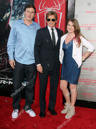 Denis Leary, son Jack Leary, daughter Devin Leary