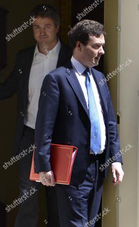 Stock Photo of Rupert Harrison and George Osborne