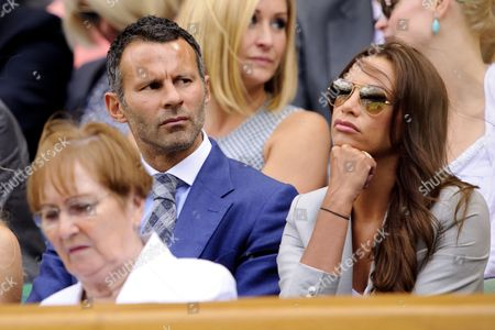 Stock Photo of Ryan Giggs and wife, Stacey Giggs