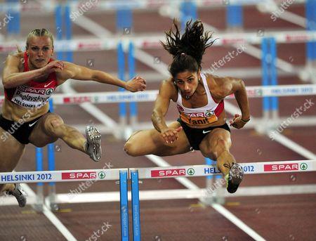 Turkey's Nevin Yanit wins women's 100 m hurdles final