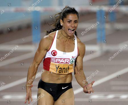 Turkey's Nevin Yanit won women's 100 m hurdles final