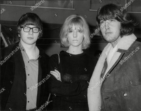 Stock Image of Peter Asher And Gordon Waller Pop Duo With Actress And Model Vicki Hodge