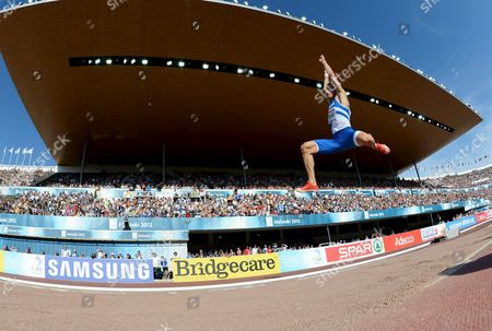Stock Picture of Finland's Tommi Evila competes during men's long jump final