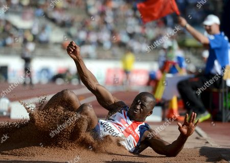 Stock Picture of JJ Jegede of Great Britain competes during men's long jump final