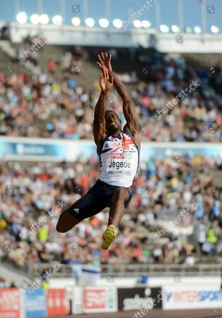Stock Photo of JJ Jegede of Great Britain competes during men's long jump final