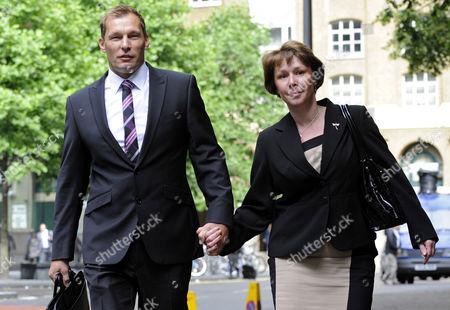 PC Simon Harwood with his wife, Helen.