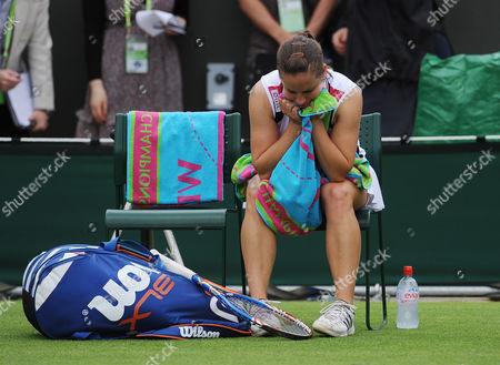 Wimbledon The Lawn Tennis Championships 2011 Katie Obrien V Kimiko Date-krumm Katie O' Brien Looses