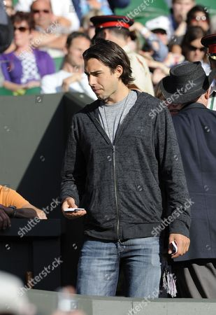 Sasha Vujacic Boyfriend Of Sharapova Maria Sharapova And Anna Chakvetadze Wimbledon Tennis 2011 Day Two 21/06/2011