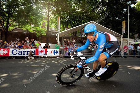 Editorial photo of Tour de France prologue 2012, Liege, Belgium - 30 Jun 2012