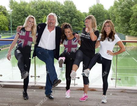Amy Guy, Sir Richard Branson, Chelsee Healey, Amy Guy and Zoe Hardman