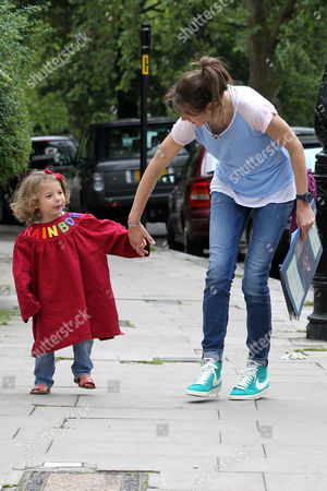 Editorial picture of Jools Oliver and daughter Petal Blossom Rainbow in Primrose Hill, London, Britain - 03 Jul 2012
