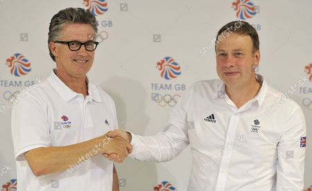 Team GB Athletics Head Coach Charles van Commenee and Team GB Chef de Mission Andy Hunt