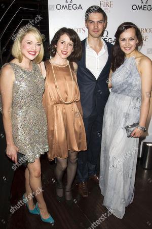 Antonia Bernath (Florence Mackenzie), Natasha Broomfield (Jennie Liddell), Daniel Fraser (Jim) and Savannah Stevenson (Sybil)
