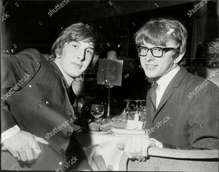 Peter Asher And Gordon Waller Who Make Up The Pop Duo Peter And Gordon At A Variety Club Luncheon