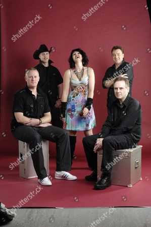 Stock Photo of Alistair Woodman and Chris Cadey and Holly Thody and Clive Lambert and Martin Leamon