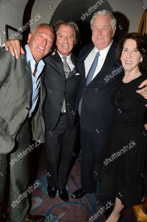 Guest, Richard Caring, US Ambassador Louis B Susman and his wife Marjorie