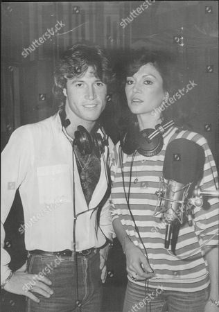 Andy Gibb Pop Singer With Girlfriend Actress Victoria Principal 1983.