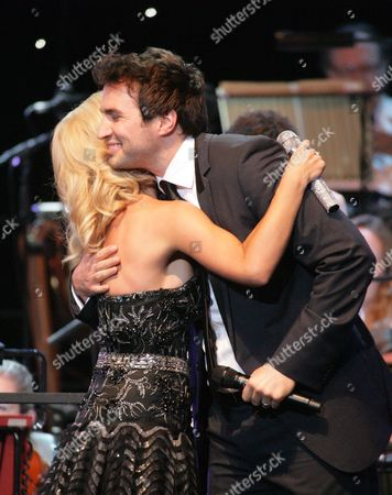 Stock Image of Katherine Jenkins and Nathan Pacheco
