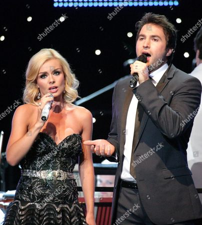 Stock Picture of Katherine Jenkins and Nathan Pacheco