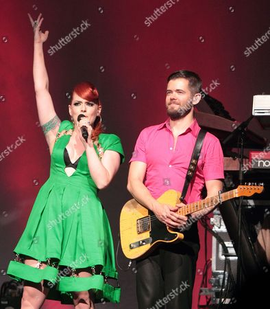 The Scissor Sisters - Ana Matronic (Ana Lynch) and Del Marquis (Derek Gruen)