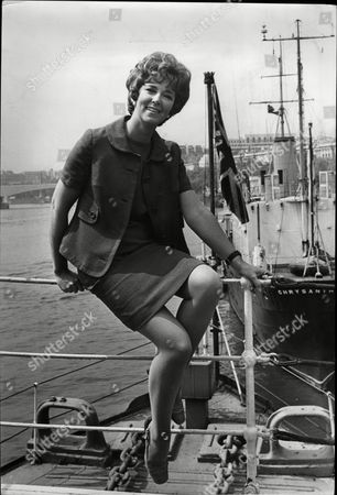 Television Announcer Sheila Kennedy Aboard H.m.s President On The River Thames