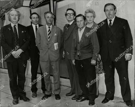 Left To Right Steve Wickham Arthur Stevenson Bob Wallis Gerald Mcnamara Arthur Simpson Phoebe Bentzien And Jimmy Woods Who Have Come Down From The North Of England To Ask The Sports Secretary To Save Their Sports Club Only To Be Told The Meeting Has Been Put Back 4 And A Half Hours