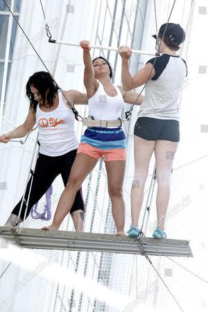 Editorial photo of Jerseylicious castmates take trapeze lesson, Atlantic City, New Jersey, America - 06 Jul 2012