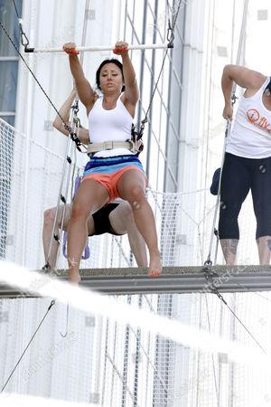 Editorial image of Jerseylicious castmates take trapeze lesson, Atlantic City, New Jersey, America - 06 Jul 2012