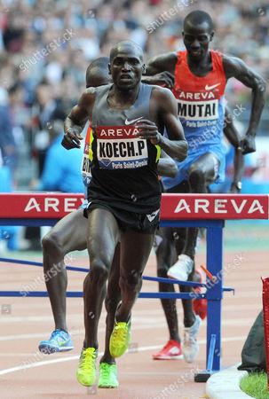 Paul Kipsiele Koech wins the 3000m Steeplechase
