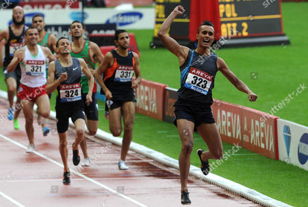 Stock Image of Riad Guerfi wins the 1500m