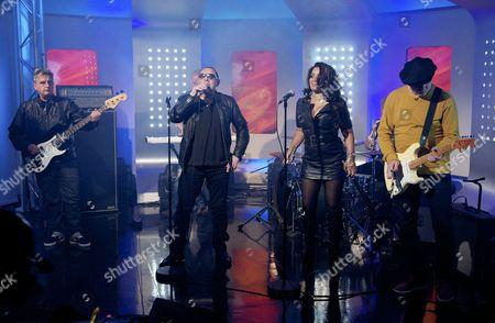 The Happy Mondays - Paul Ryder, Shaun Ryder, Rowetta Satchell, Mark Day