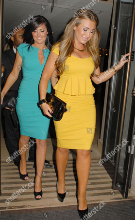 Nicola Goodger and Lauren Goodger at the Mayfair Hotel
